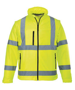 PW092 Portwest Hi-Vis Softshell Jacket (3L) (S428)