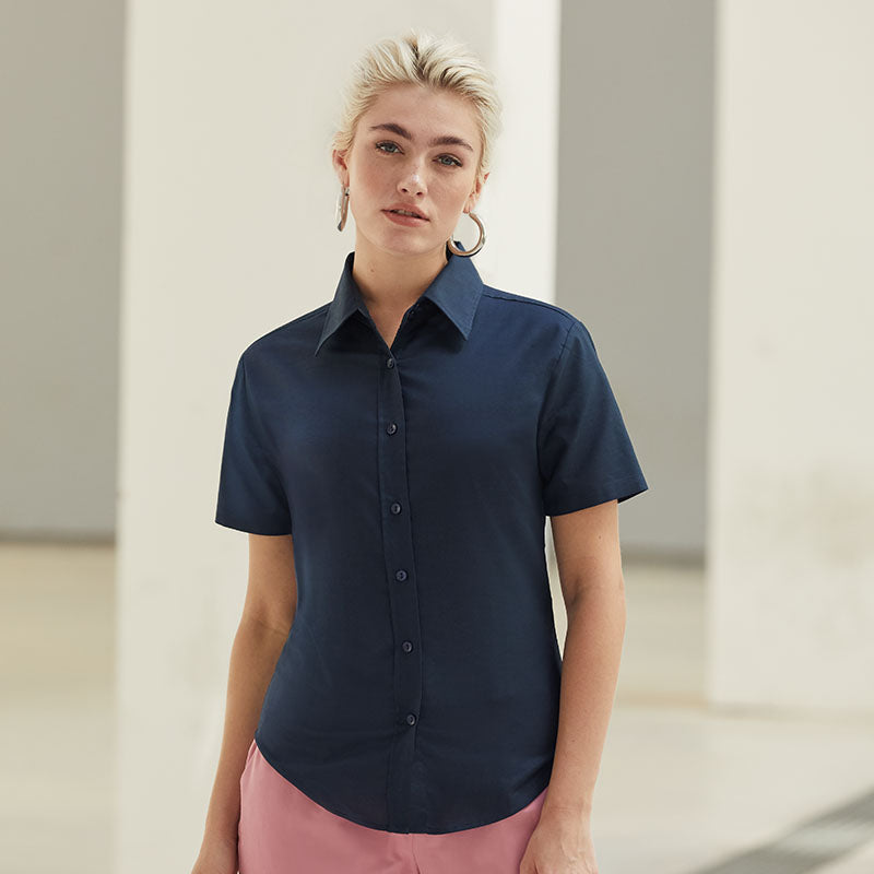 SS003 Fruit of the Loom Women's Oxford short sleeve shirt