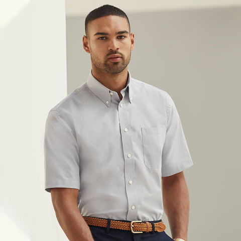 SS112 Fruit of the Loom Oxford short sleeve shirt