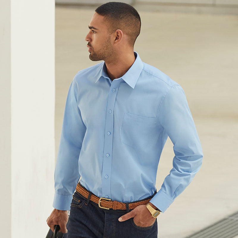 SS118 Fruit of the Loom Poplin long sleeve shirt