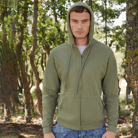 SS222 Fruit of the Loom Classic 80/20 hooded sweatshirt jacket