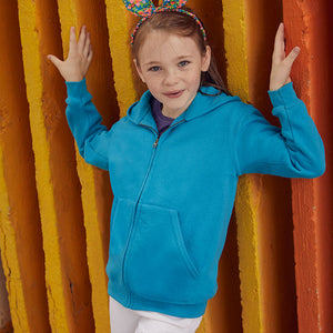 SS225 Fruit of the Loom Kids Classic Hooded Sweatshirt Jacket