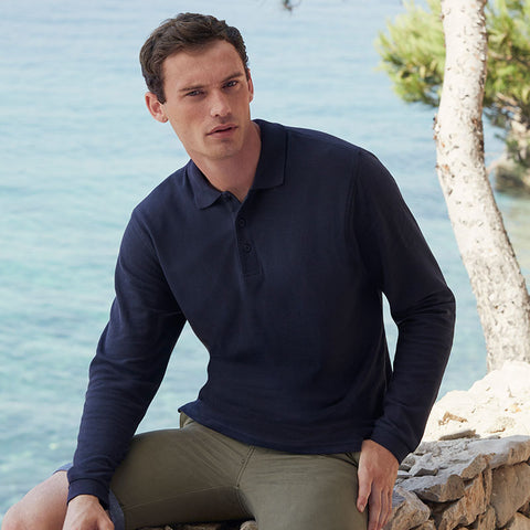 SS258 Fruit of the Loom Premium Long Sleeve Polo