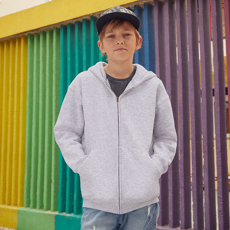 SS825 Fruit of the Loom Kids Premium Hooded Sweatshirt Jacket