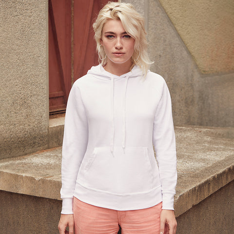 SS938 Fruit of the Loom Lady-Fit Lightweight Hooded Sweatshirt