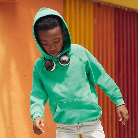 SS973 Fruit of the Loom Kids Lightweight Hooded Sweatshirt