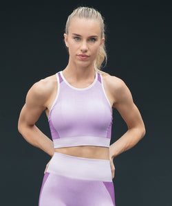 TL351 Tombo Women's Seamless Panelled Crop Top