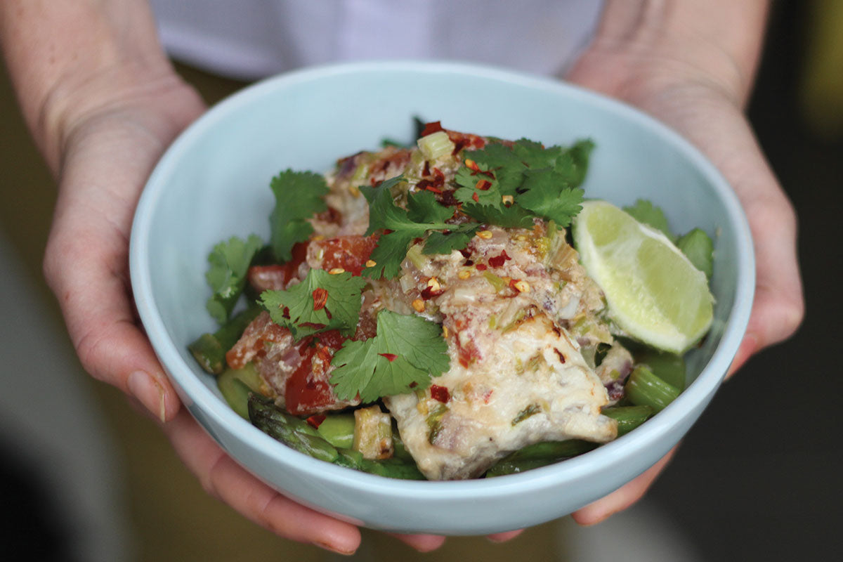 Baked Barramundi in Coconut Sauce
