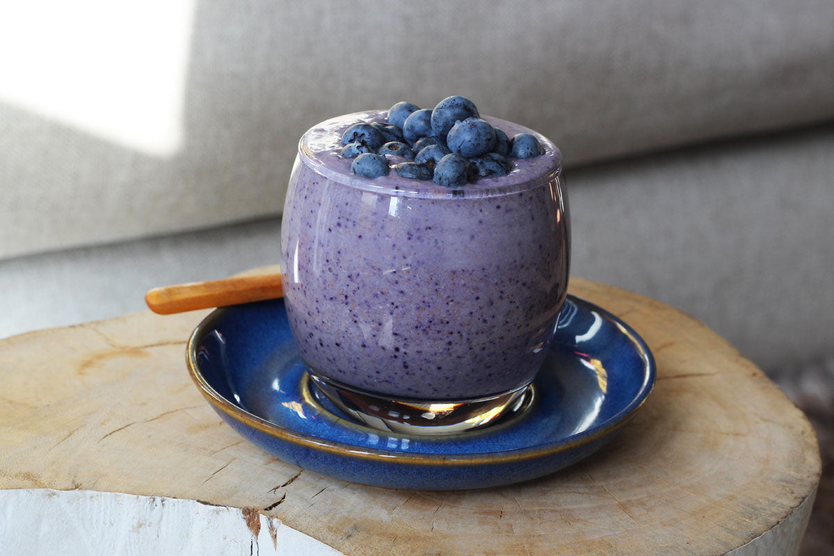 Blueberry lemon coconut chia pudding