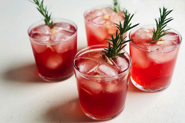 Ginger kombucha cranberry mocktail