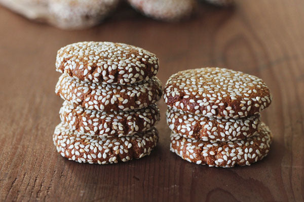 Honey Tahini Cashew Cookies