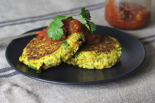 Mashed Vegetable & Quinoa Fritters