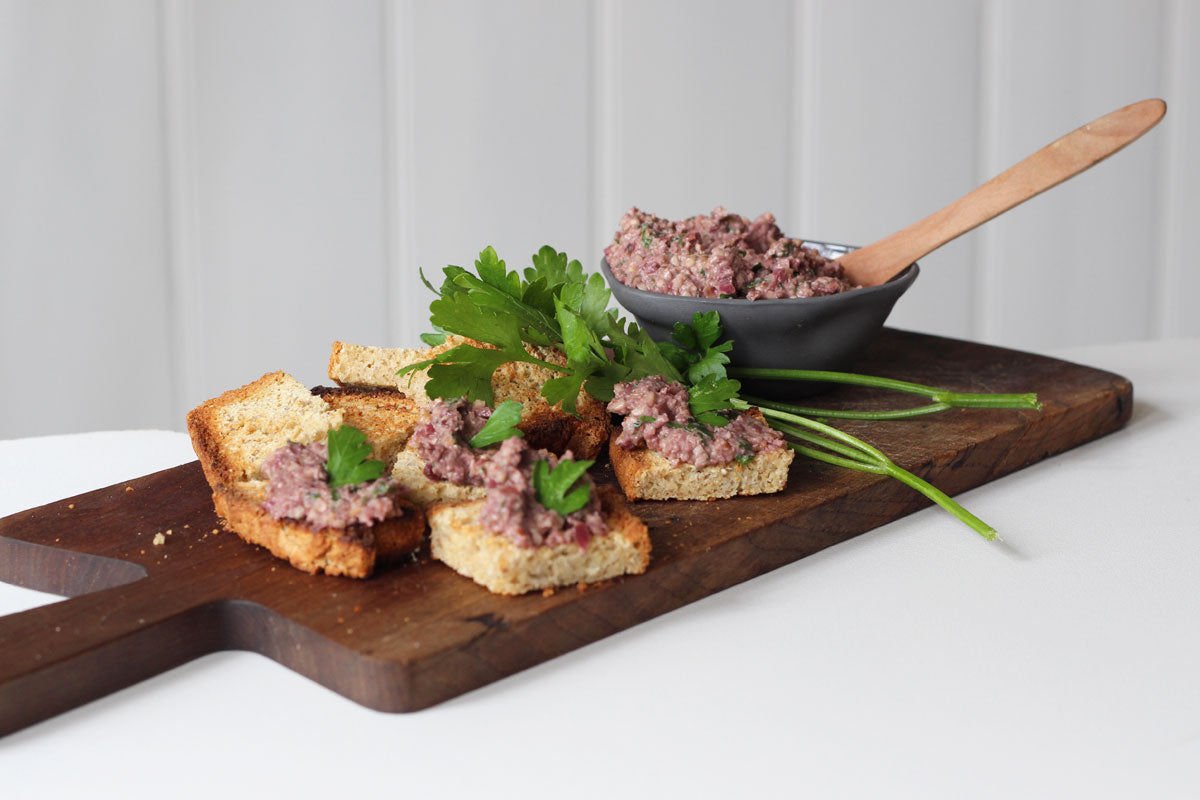 Olive tapenade with walnuts recipe