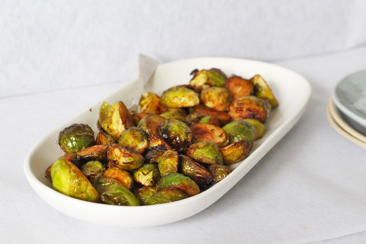 Roasted Brussels Sprouts with Wasabi and Tamari