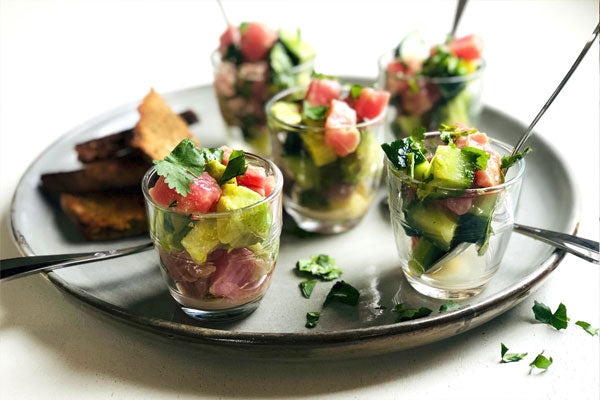 Tuna and lime ceviche
