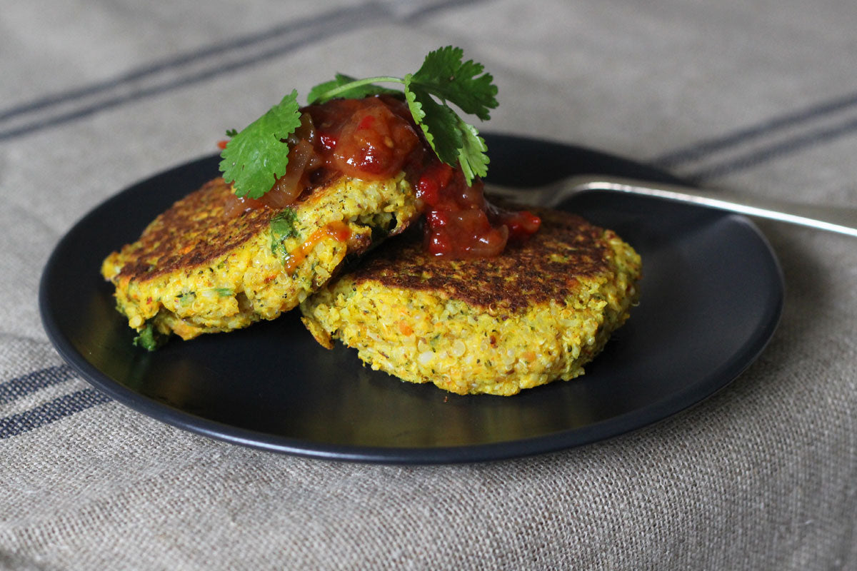 Vegetarian Fritters with Quinoa