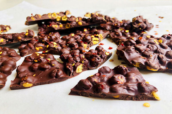 Chickpea chocolate bark