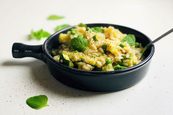 Lean Green Minty Risotto