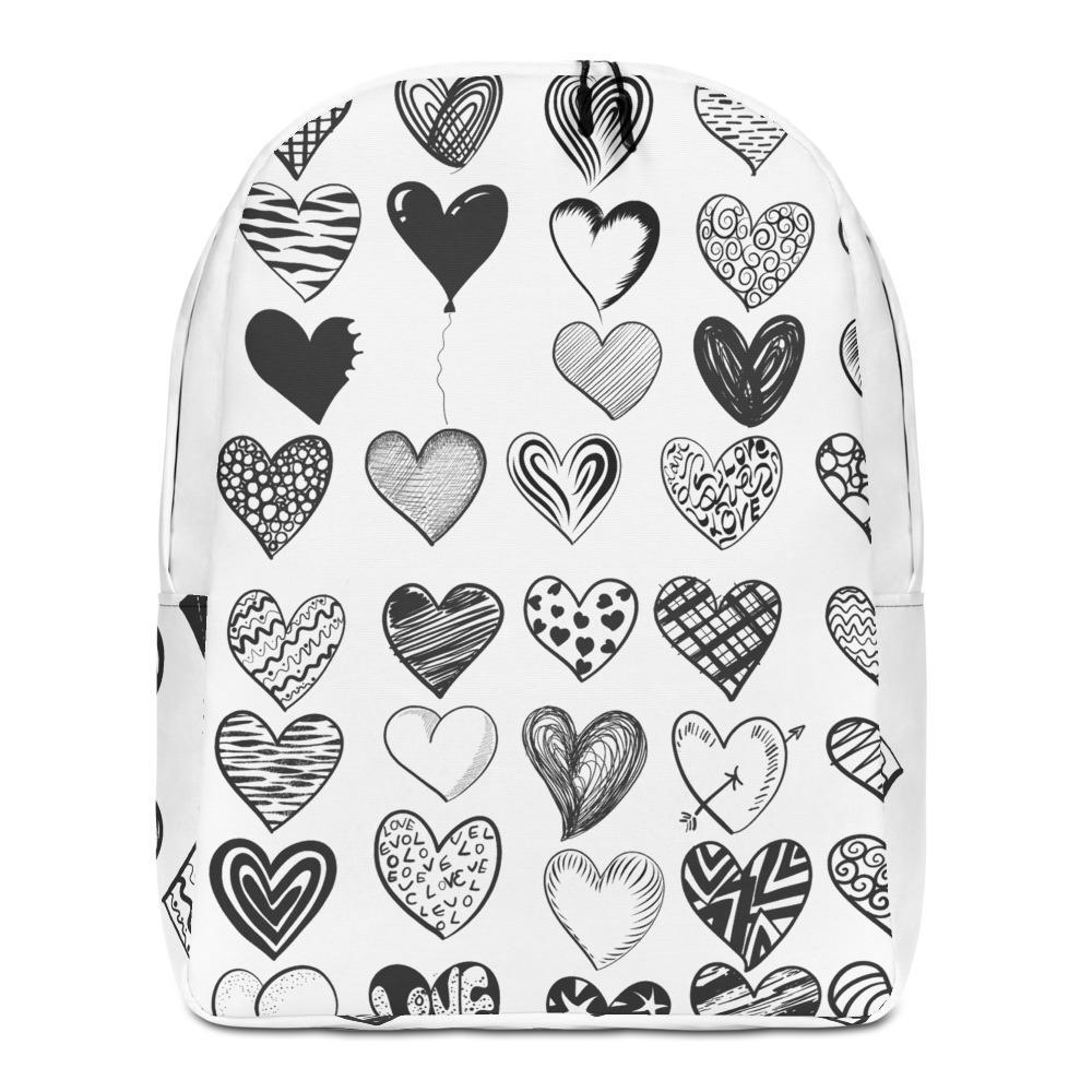 Backpack Minimalist | B&W Hearts | ACES INFINITY