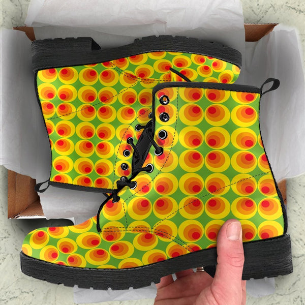 Combat Boots - 70s Psychedelic Style #5 | Custom Shoes