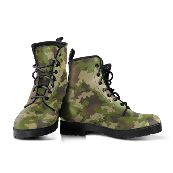 Combat Boots - Camouflage Boots | Boho Shoes Handmade Lace
