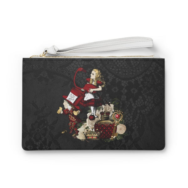 Custom Clutch Purse - Alice in Wonderland Gift # 32 Red