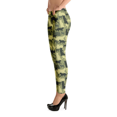 Fashion Leggings | Camouflage | Camouflage with Cats | ACES