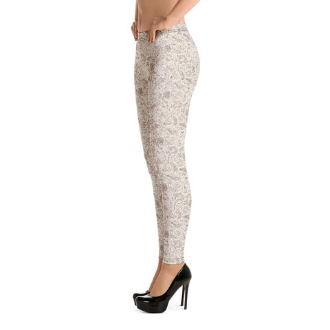 Fashion Leggings | Christmas Series #10 | Ivory | ACES