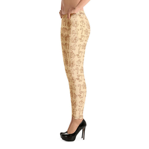 Fashion Leggings | Christmas Series #12 | Beige | ACES