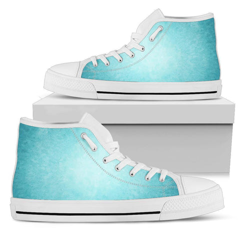 High Top Sneakers - A Touch of Teal | Custom High Top Shoes