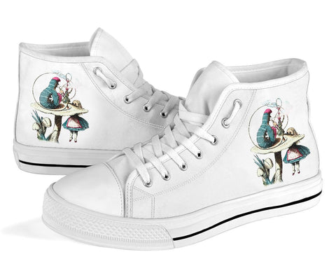 High Top Sneakers - Alice in Wonderland Gifts #41 White/Pink