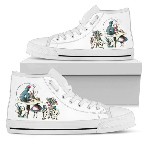 High Top Sneakers - Alice in Wonderland Gifts #42 White/Pink