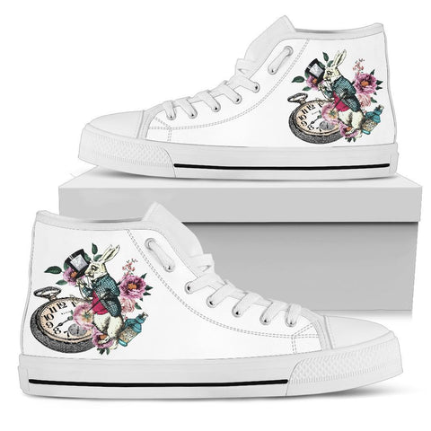 High Top Sneakers - Alice in Wonderland Gifts #43 White/Pink