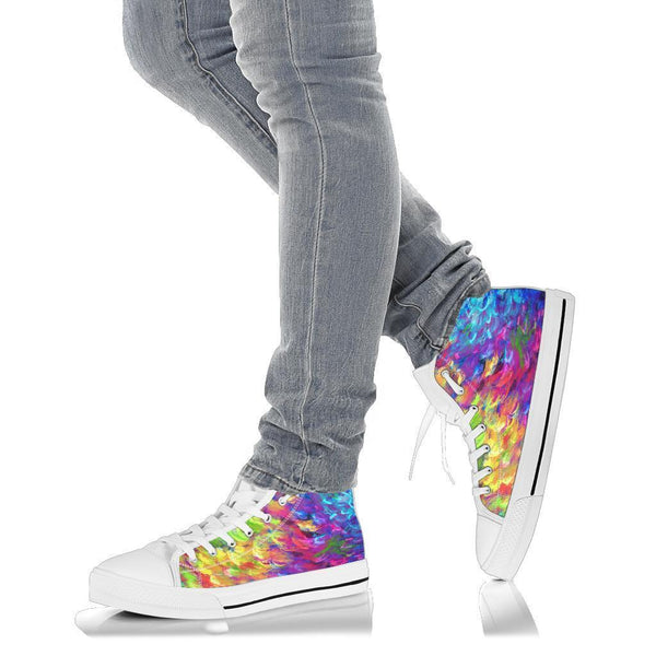 High Top Sneakers - Artist's Shoes | Adult Rainbow Sneakers