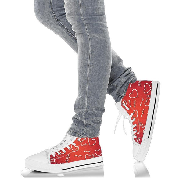 High Top Sneakers - Fall in Love | Custom High Top Shoes