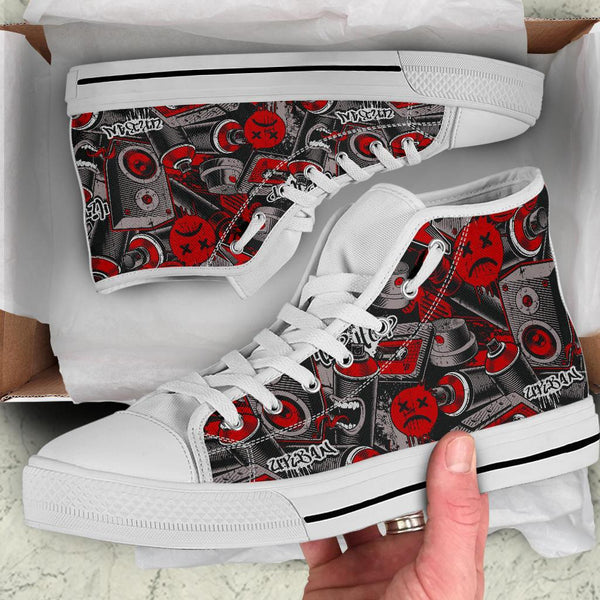 High Top Sneakers - Graffiti Fashion #21 | Custom Shoes
