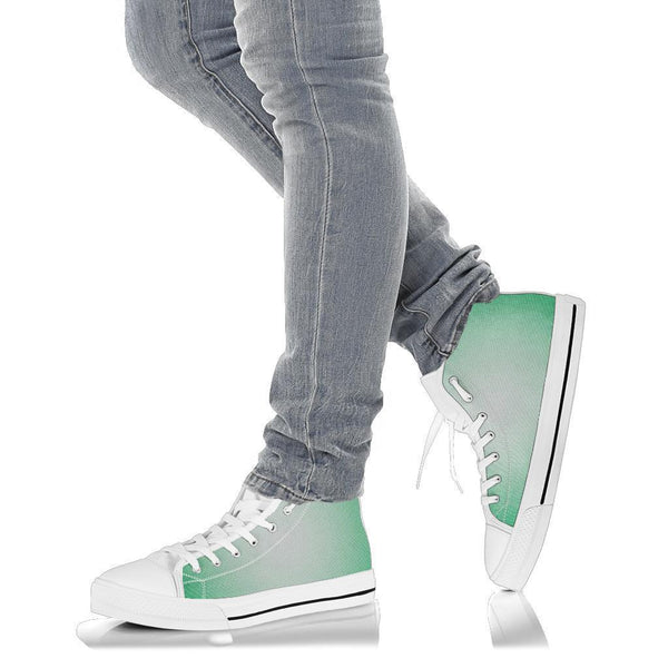 High Top Sneakers - Green Ombre | Custom High Top Shoes