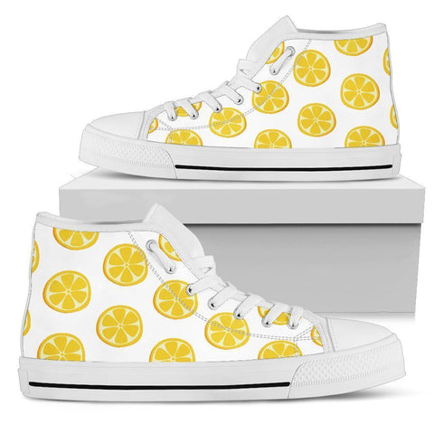High Top Sneakers - Lemon Love | Custom High Top Shoes