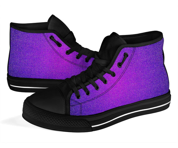 High Top Sneakers - Purple Ombre | Custom High Top Shoes