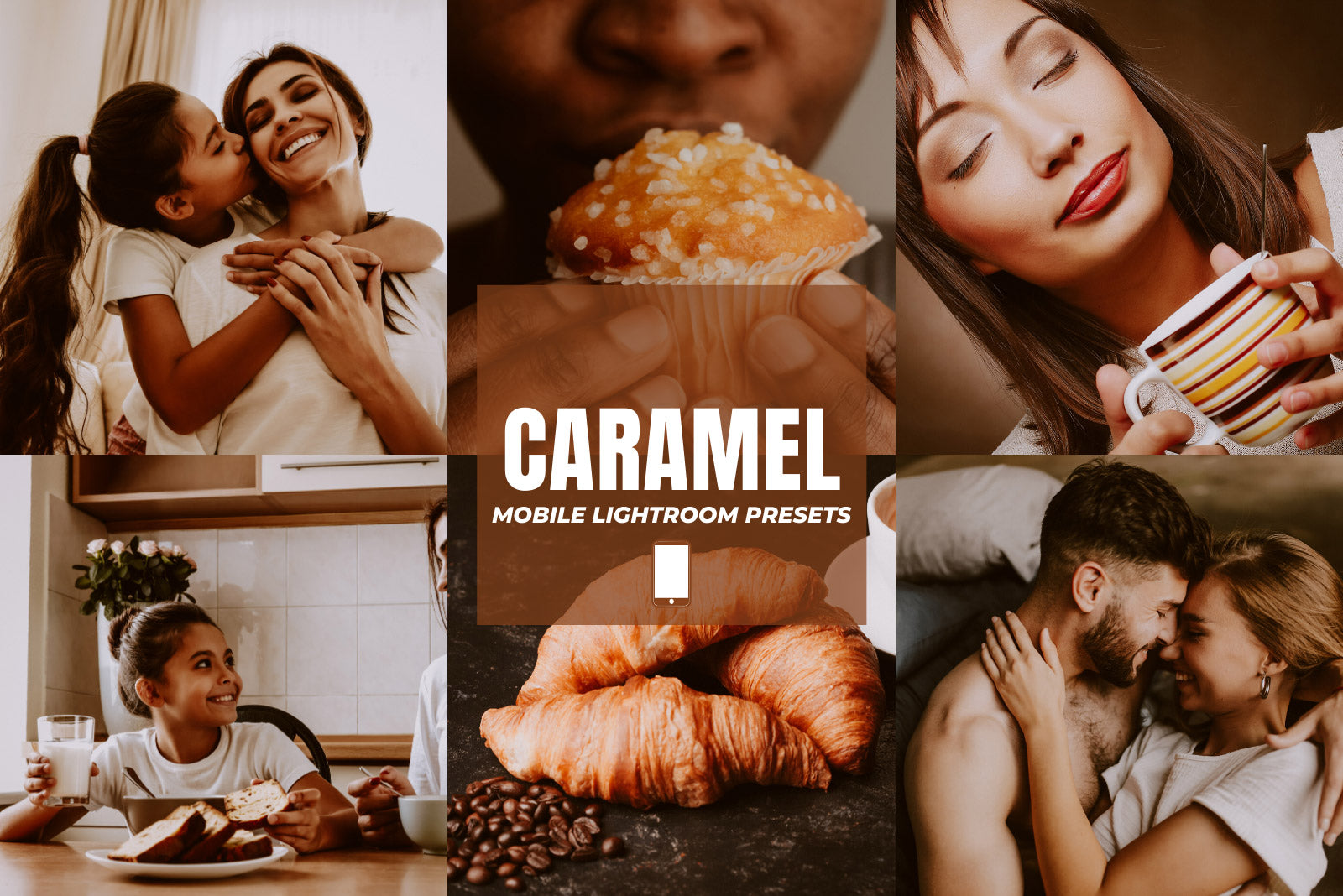 CARAMEL MOBILE LIGHTROOM PRESETS by The Viral Presets