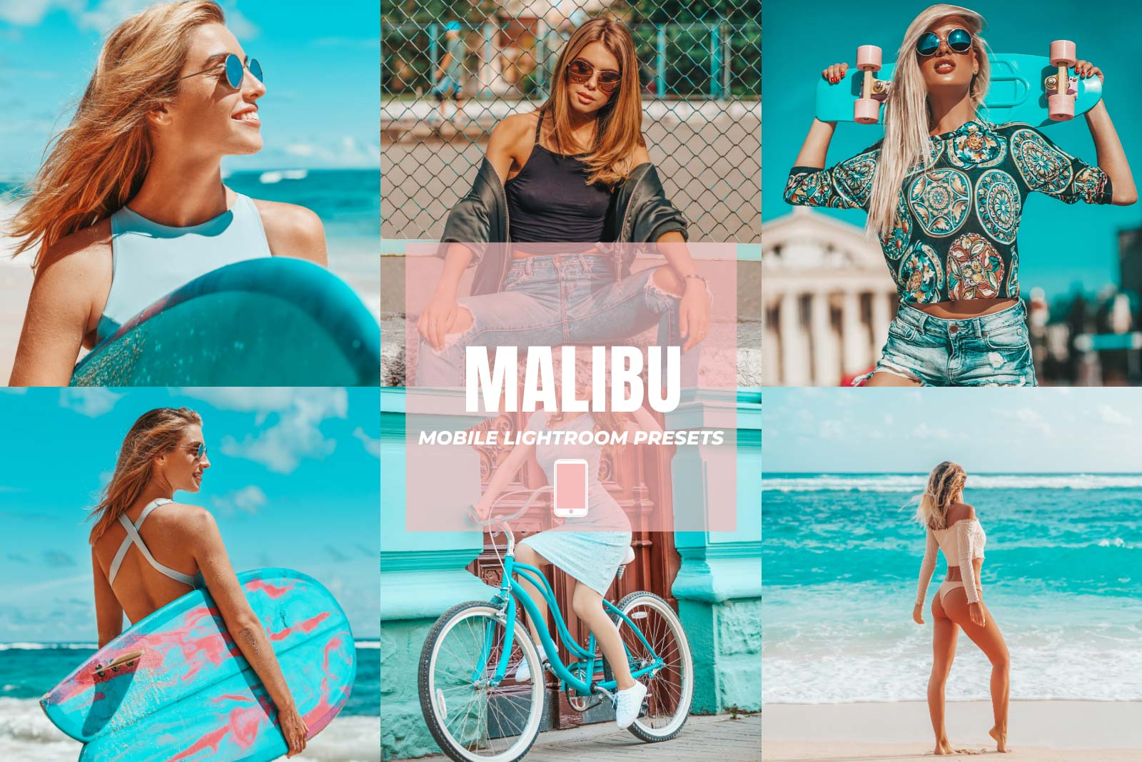 MALIBU MOBILE LIGHTROOM PRESETS by The Viral Presets