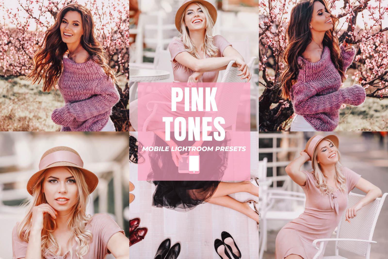 PINK TONES MOBILE LIGHTROOM PRESETS