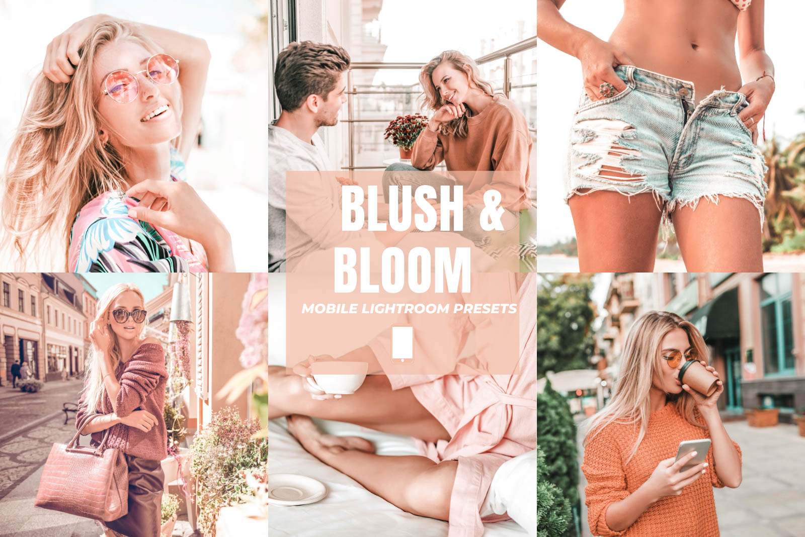 BLUSH & BLOOM MOBILE LIGHTROOM PRESETS by The Viral Presets