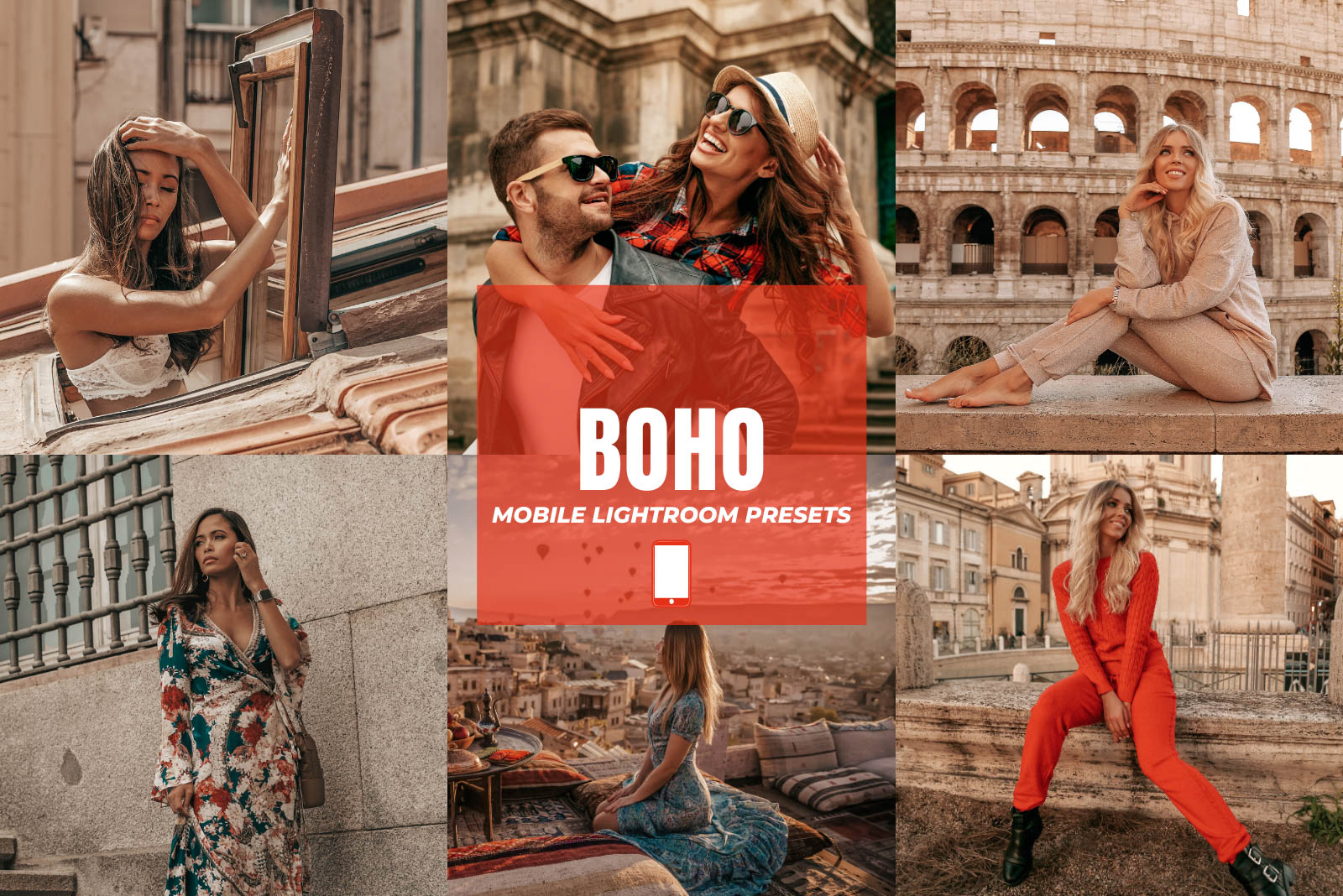 BOHO MOBILE LIGHTROOM PRESETS by The Viral Presets