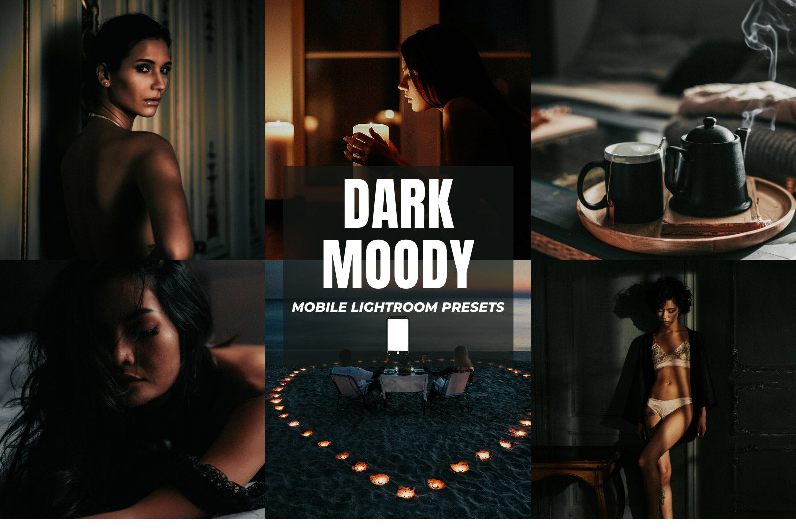 DARK MOODY MOBILE LIGHTROOM PRESETS