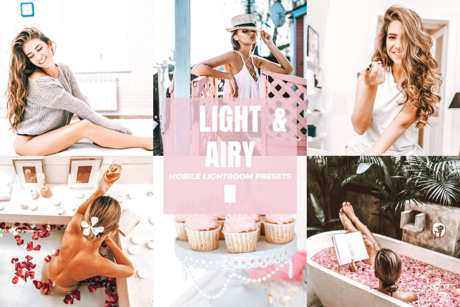 LIGHT & AIRY MOBILE LIGHTROOM PRESETS by The Viral Presets