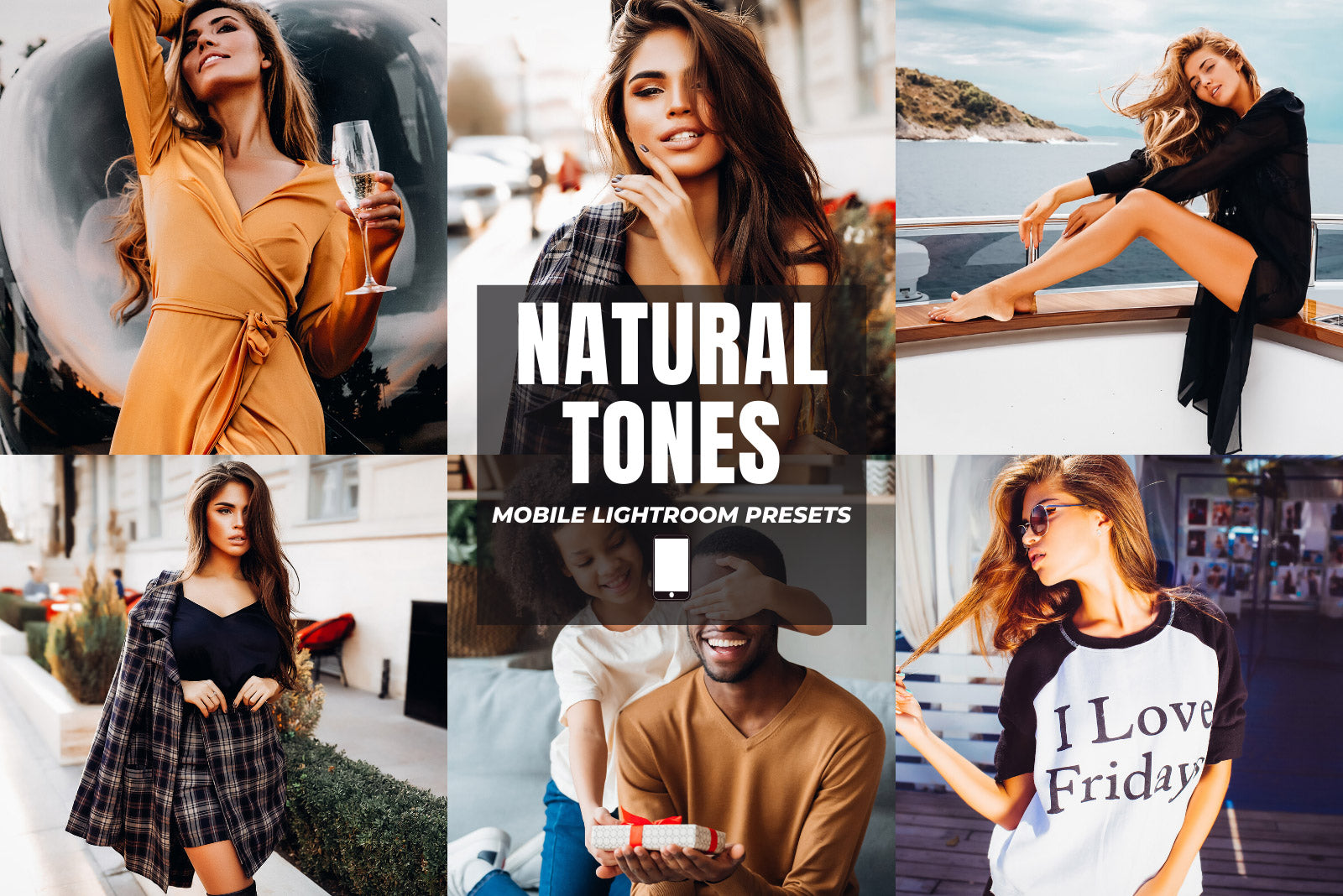 NATURAL TONES MOBILE LIGHTROOM PRESETS by The Viral Presets