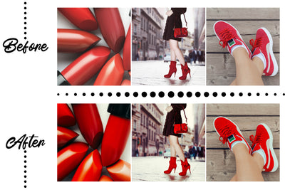 RED FASHION MOBILE LIGHTROOM PRESETS by The Viral Presets