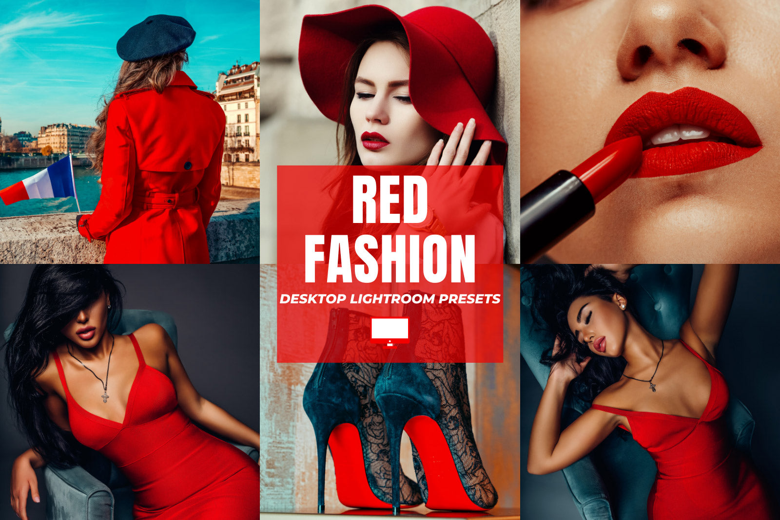 RED FASHION DESKTOP LIGHTROOM PRESETS by The Viral Presets