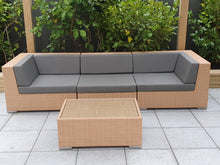 Load image into Gallery viewer, 'Modul' Modular Wicker Sofa and Coffee Table Setting